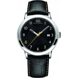 88 Rue Du Rhone Black Leather Gents Watch ~ 87WA140020
