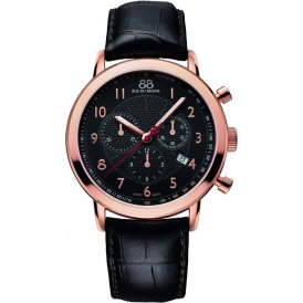 88 Rue Du Rhone Rose Gold & Black Gents Watch ~ 87WA120050