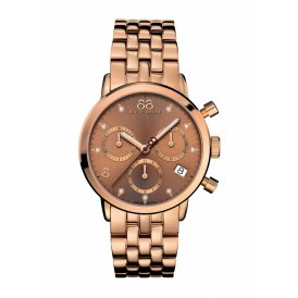 88 Rue Du Rhone Rose Gold Chronograph Ladies Watch ~ 87WA153517