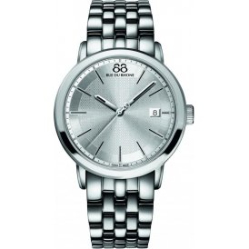 88 Rue Du Rhone Silver 42mm Gents Watch Silver Dial ~ 87WA130016