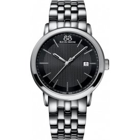 88 Rue Du Rhone Silver Steel Gents Watch Black Dial ~ 87WA130011