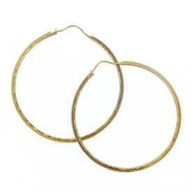 Alexis Dove Large Urchin Hoop Earrings - Yellow Gold Vermeil ~ BCUE3GVY