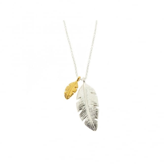 Alexis Dove Palm Leaf Pendant - Silver/Yellow Gold ~ PAPLP2GVY