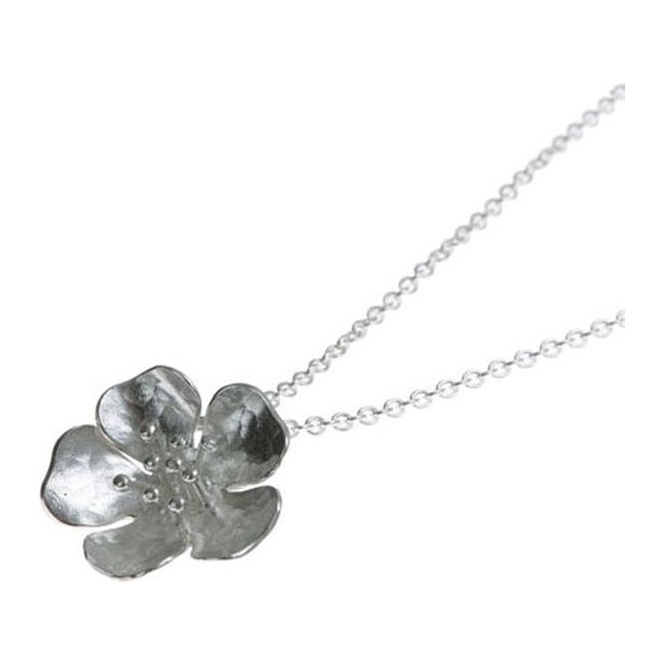Alexis Dove Silver Small Wild Rose Pendant ~ WRP1