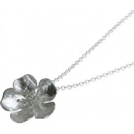 Alexis Dove Small Wild Rose Pendant - Silver ~ WRP1