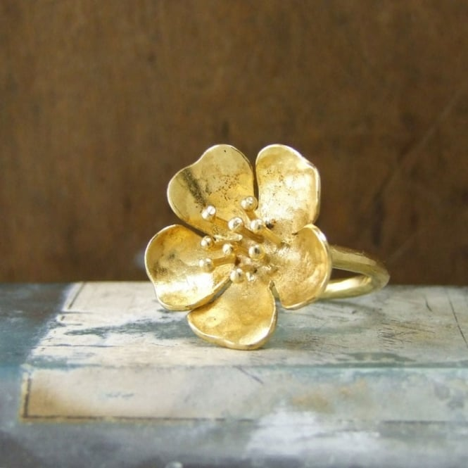 Alexis Dove Small Wild Rose Ring - Yellow Gold ~ WRR1GVY