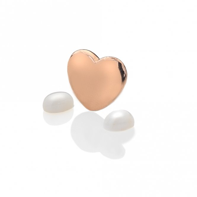 Anais Rose Gold & Moonstone Heart Charm ~ EX137