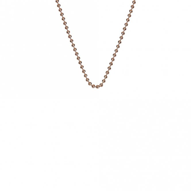 Anais Rose Gold Plated Silver Bead Chain 18