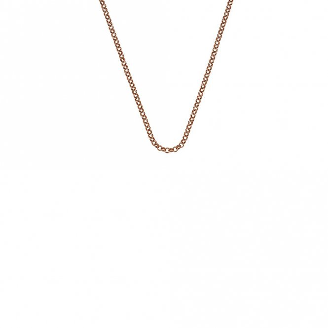 Anais Rose Gold Plated Silver Belcher Chain 18