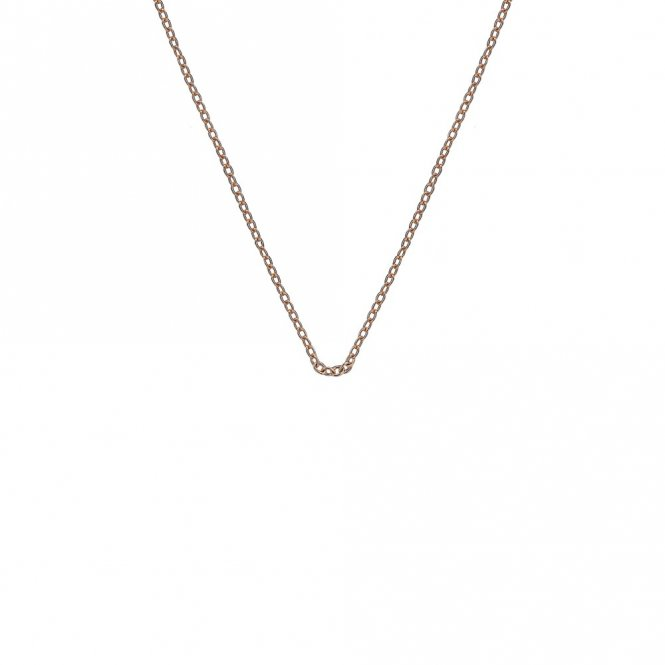 Anais Rose Gold Plated Silver Trace Chain 16-18