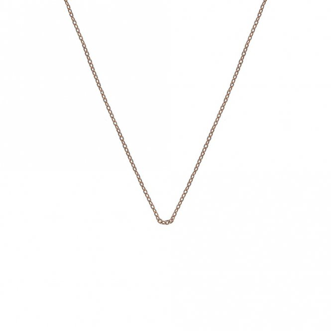 Anais Rose Gold Plated Silver Trace Chain 24