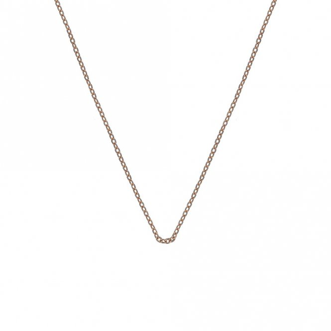 Anais Rose Gold Plated Silver Trace Chain 30