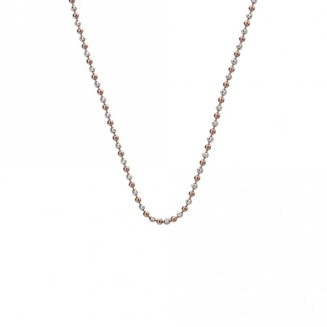 Anais Rose Gold & Silver Accent Bead Chain 24