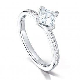 Arctic Circle Fancy Crossover Diamond Ring ~ AC1150034