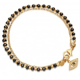 Astley Clarke Black Spinel Evil Eye Biography Bracelet