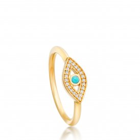 Astley Clarke Gold Evil Eye Biography Ring N ~ 38026YNOR70