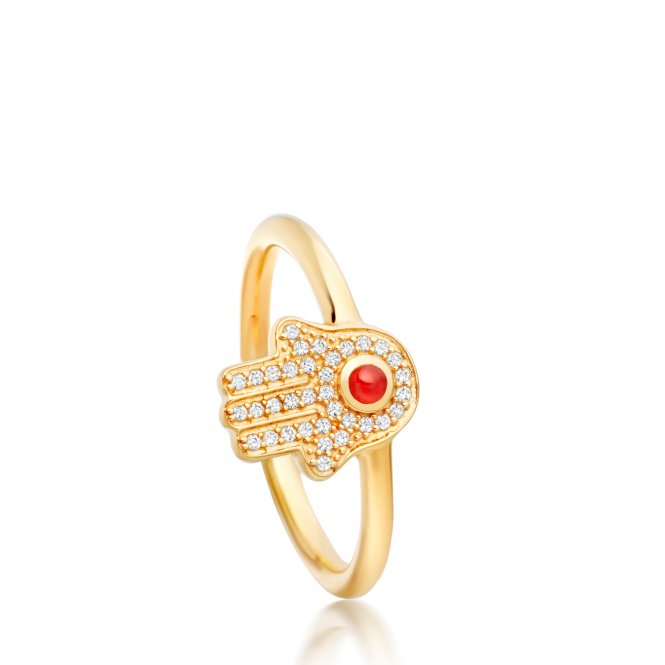Astley Clarke Gold Hamsa Biography Ring L ~ 38027YNOR60