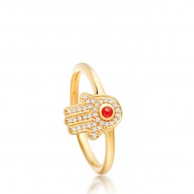 Astley Clarke Gold Hamsa Biography Ring P ~ 38027YNOR80