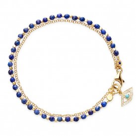 Astley Clarke Gold Lapis Eye Biography Bracelet ~ 37502YBEBMD