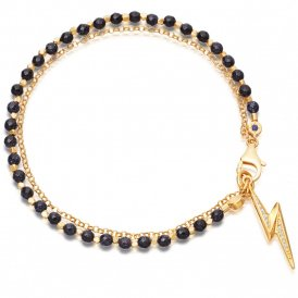 Astley Clarke Gold Midnight Biography Bracelet ~ 38003YBKBMD