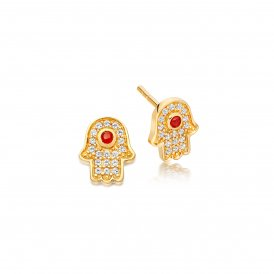 Astley Clarke Gold Mini Hamsa Biography Earrings ~ 38021YNOEOS