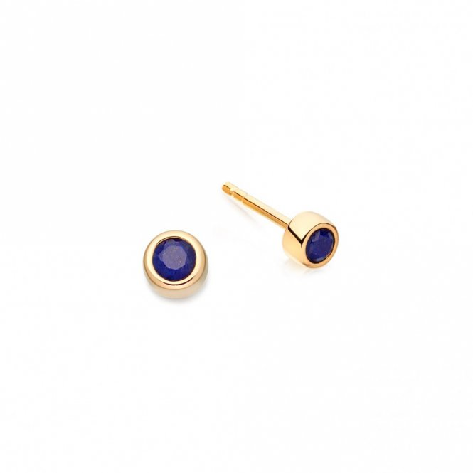 Astley Clarke Gold Mini Lapis Stilla Earrings ~ 38036YBEEOS