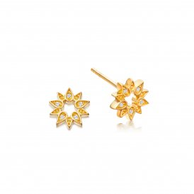 Astley Clarke Gold Mini Sun Biography Earrings ~ 38022YNOEOS