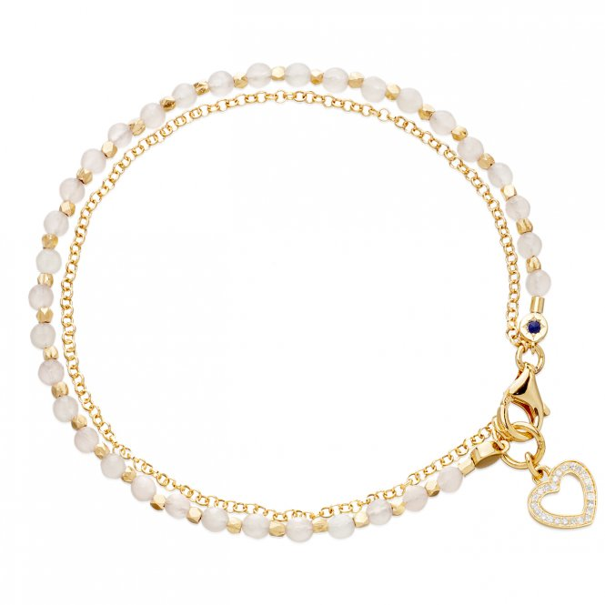 Astley Clarke Gold Rose Quartz Biography Bracelet ~ 37508YWTBMD
