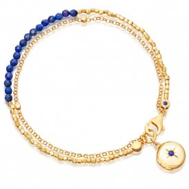 Astley Clarke Lapis Locket Biography Bracelet ~ 38001YBEBMD