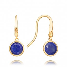 Astley Clarke Mini Lapis Round Stilla Earrings - Gold ~ 38031YBEEOS