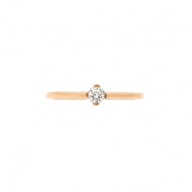 Brown & Newirth 18ct Rose Gold Solitaire Diamond Ring ~ 1876-10