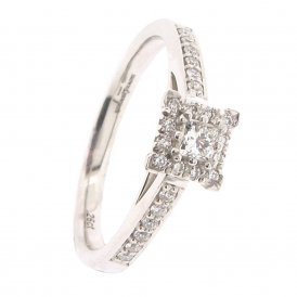 Brown & Newirth 25-Stone Square Cluster Ring ~ EN196PCR269WSZ:L