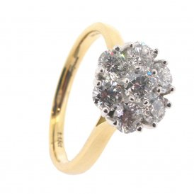 Brown & Newirth 7-Stone Diamond Cluster Ring ~ EN180R11518KSZ:L