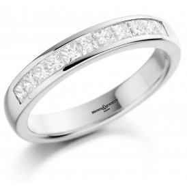 Brown & Newirth 9-Stone Princess Cut Diamond Wedding Ring N