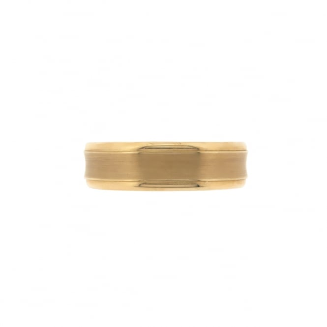 Brown & Newirth 9ct Yellow Gold Concave Wedding Ring ~ ANFP583