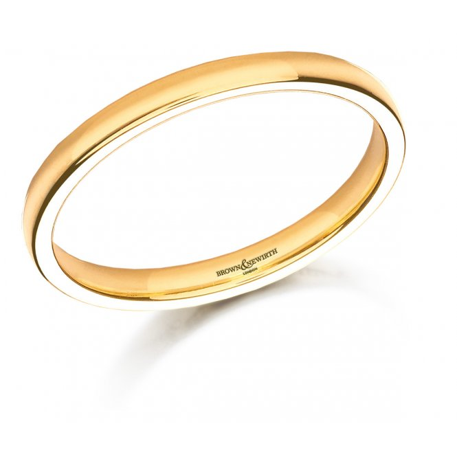 Brown & Newirth 9ct Yellow Gold Plain Wedding Band L