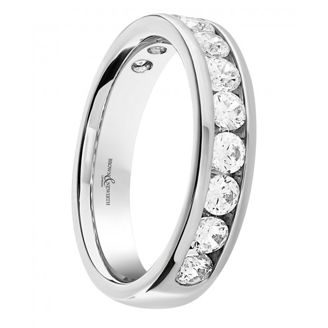 Brown & Newirth Allure Platinum Round Diamond Half-Eternity Ring