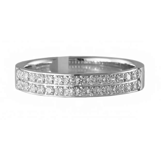 Brown & Newirth Double-Row Diamond Wedding Ring N