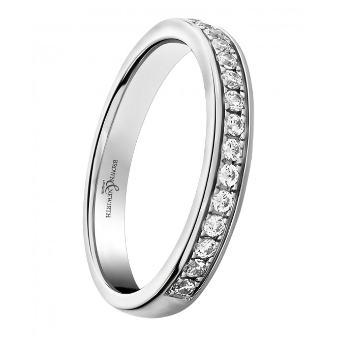 Brown & Newirth Joy Platinum Round Diamond Half-Eternity Ring