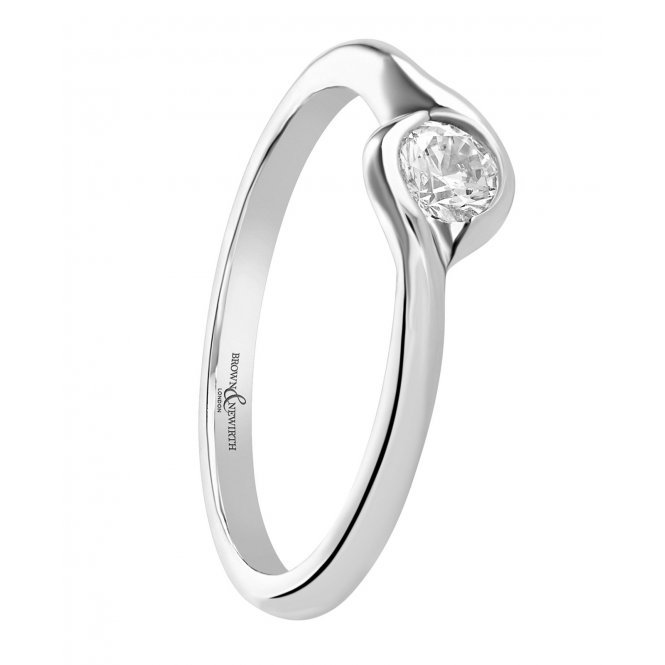 Brown & Newirth Luna Platinum Solitaire Diamond Ring