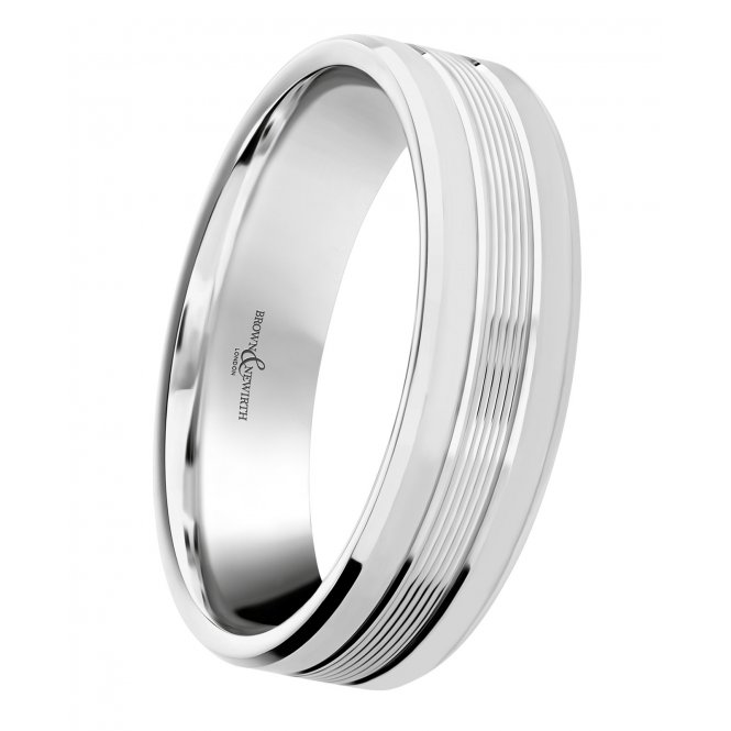 Brown & Newirth Orbit Palladium Patterned Wedding Ring U