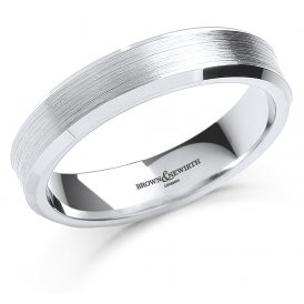 Brown & Newirth Palladium Concave Wedding Ring U