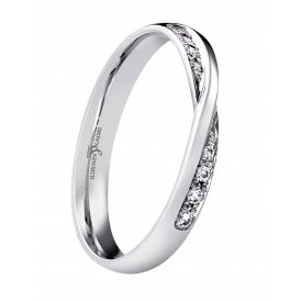 Brown & Newirth Platinum Diamond Shaped Wedding Ring
