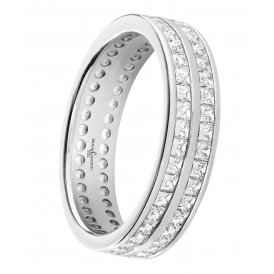 Brown & Newirth Platinum Full Diamond Double Row Wedding Ring