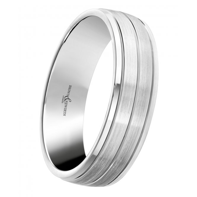 Brown & Newirth Platinum Plain Wedding Ring