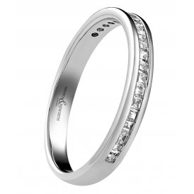 Brown & Newirth Platinum Princess Diamond Half-Eternity Ring