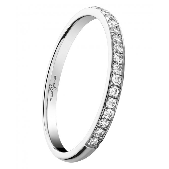 Brown & Newirth Platinum Round Diamond Half-Eternity Ring