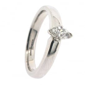 Brown & Newirth Platinum Solitaire Diamond Ring ~ 1876-16