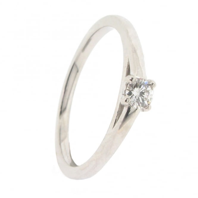 Brown & Newirth Platinum Solitaire Diamond Ring ~ 1876-2