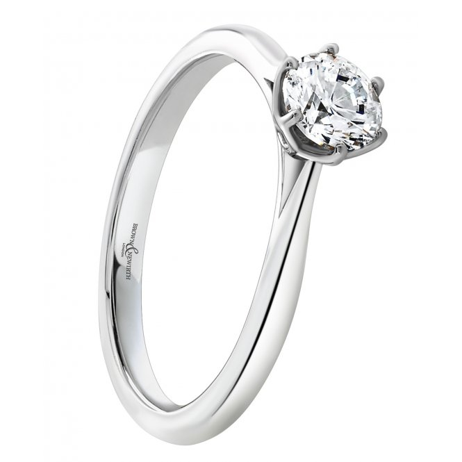 Brown & Newirth Platinum Solitaire Diamond Ring ~ EN252R64